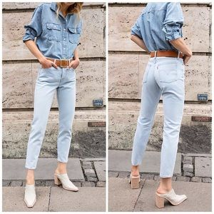 NEW Levi's Wedgie Fit High Rise Tapered Mom Jeans